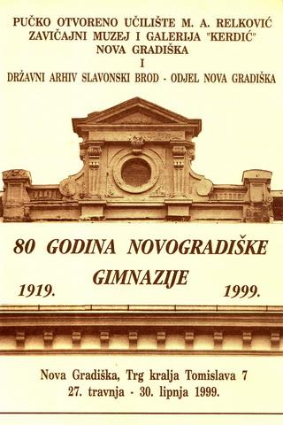 Izložba 80 godina novogradiške Gimnazije