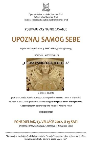 Predavanje i promocija knjige dr.sc.p. Mije Nikića